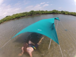 Using our Otentik sunshade in the Intracoastal Waterways