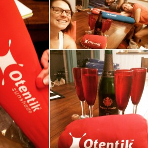 Otentik USA crew working overtime