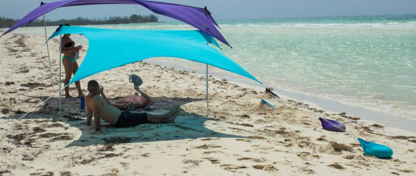 Two Otentik Sunshades in the Bahamas