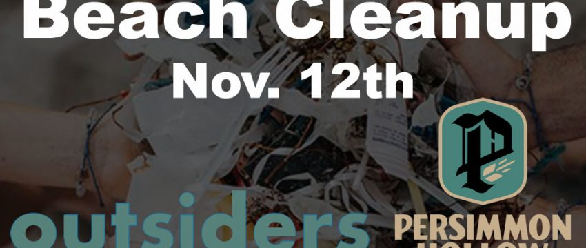 Beach Cleanup Persimmon Hollow Brewing and Outsiders USA
